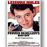 Ferris Bueller Film Film Poster Vintage Retro-Stil Leinwand Wand Kunstdruck Bild groß Klein