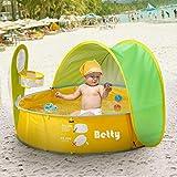 ADATEN Spielzelt Strand Poolzelt Aufklappbar Tragbar Faltbar Baby Spielhaus Offenes Tempo UV-Schutz...