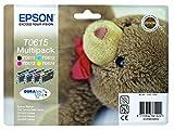 EPSON C13T06154010 Multi-Pack (Schwarz, Gelb, Magenta, Cyan) Original Tintenpatronen Pack of 4