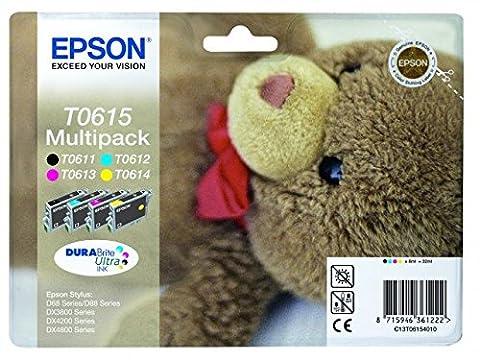 Epson C13T06154010 Inkjet Cartridge for DX3850 - Cyan/Magenta/Yellow/Black (Pack of