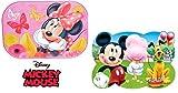 Disney Minnie & Mickey Mouse - tolle Geschenkidee für Kinder - 2 Tischunterlagen /Tischset /Tisch Matten / Platzdeckchen / Essunterlage/ Platzset / Placemat aus Kunststoff abwaschbar - Rund