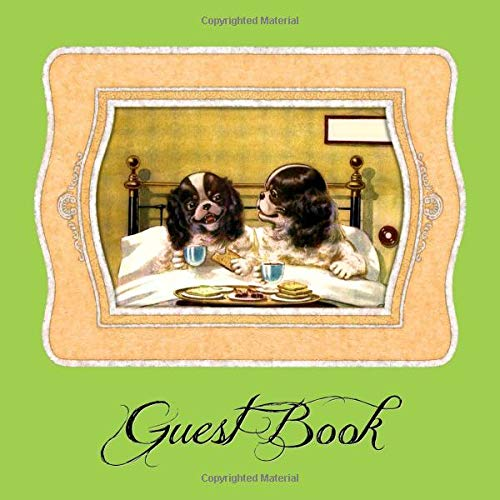 Guest Book: Puppy themed, blank lined guest register for airbnb, bed & breakfast, pet sitting, doggie day care, veterinarian notebook, etc. -