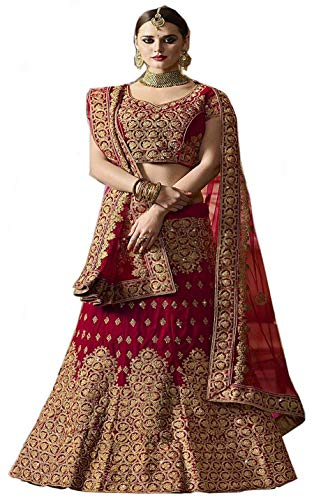 Indian Clothing Store Globalia Creation Embroidered semi Stitched Lehenga for Women | Womens Today preminum lehengas Collection 2018 | Lehenga Choli for Girls (Kleider Indian Sarees Frauen Für)