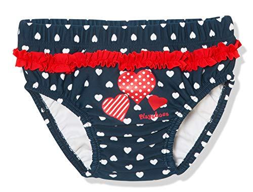 Playshoes Baby-Mädchen UV-Schutz Windelhose Herzen Schwimmwindel, Blau (Marine 11), (Herstellergröße: 74/80)