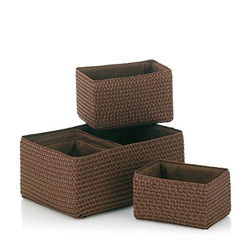 Kela 21782 Korb-Set 5tlg, Unterschiedliche Größen, PP-Kunststoff, Rimossa, Braun - Bad Korb-set