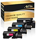 Arcon Kompatibel für Toner Dell E525W E 525 Dell E525 Dell E-525W Dell E 525 W | 593-BBLN 593-BBLL 593-BBLZ 593-BBLV Multifunktionsdrucker 4-Pack