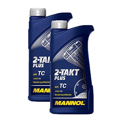 2X MANNOL MN7204-1 2-Takt Plus Motorradöl API TC 1L