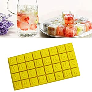 TAOtTAO 32 sogar Eiswürfel des russischen Alphabets Heiße Silikon-Frost-Form-Stab-Pudding-Gelee-Schokoladen-Hersteller-Form