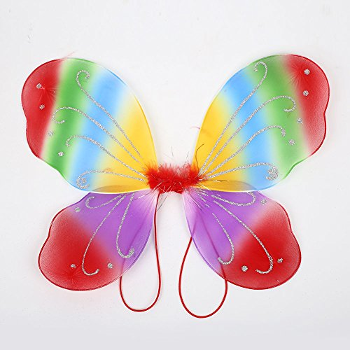 TOPmountain Butterfly Wings Dress Up, Party-Kostüm Dress-Up Wings Princess Party Butterfly Wings Mädchen Butterfly Fairy Wings (1Pcs) - (Butterfly Princess Mädchen Kostüm)