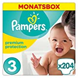 Pampers Premium Protection Windeln Gr. 3 5-9 kg Monatsbox 204 St.