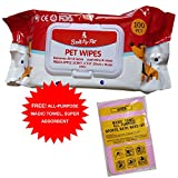 #4: Merapuppy Wet Wipes For Dogs, puppies & Pets - Apple - Pack of 100 Wipes