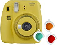 Fujifilm Instax mini 9 Instant Film Camera - Yellow With Clear Accents