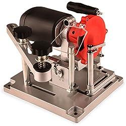 EBERTH 110 Watt Affûteuse pour Lame de Scie Circulaire (Ø 100 mm Meule, 90 - 400mm Lames, Angle d'affûtage jusqu'à 25°, Meule de Diamant et de Céramique)