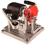 EBERTH Affilador eléctrico de hoja de sierra circular (110 vatios, 90-400 mm, 5300 rev / min, ángulo de afilado ajustable, disco de diamante y cerámica) negra y roja