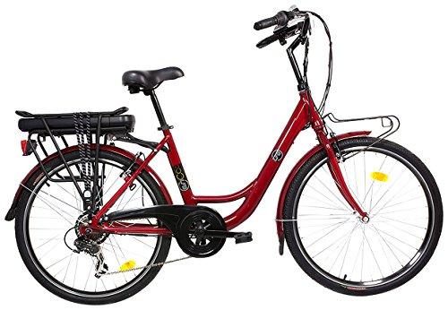 LFB CT26 Vélo électrique Mixte Adulte, Rouge