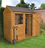 Forest Garden 6×4 Reverse Apex Overlap Garden Shed – Dip Treated