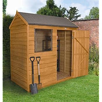 forest garden 6x4 reverse apex overlap garden shed dip treated