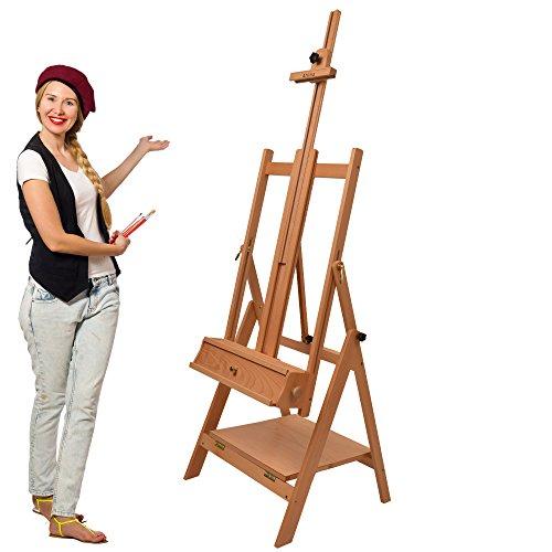 Artina Profi Atelierstaffelei Napoli als Künstler Studio-Staffelei aus massivem Buchen-Holz für...