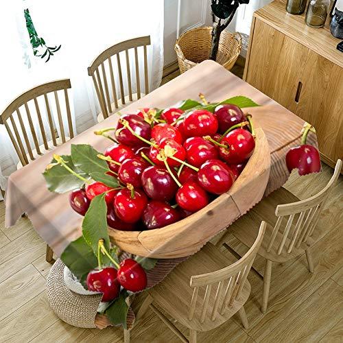 JHSH Tischdecke Polyester Rechteckige Kirsche Garten Garten Heimtextilien Indoor-Produkte130x220cm - Rechteckige Kirsche