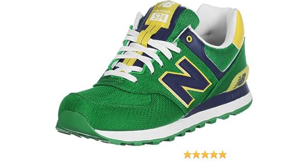 New Balance ML 574 PGN Vert Jaune 41.5 : Amazon.fr: Chaussures et Sacs