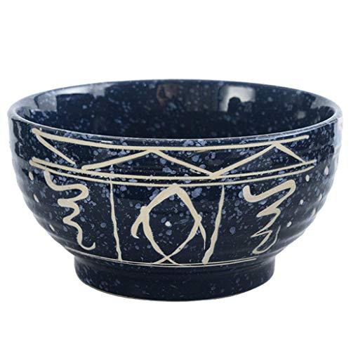 ACZZ 7 Zoll handbemalte Keramik Bone China Home Reis Schüssel Japaese Ramen Schalen Vintage Suppe Schalen Geschirr Obst Container Geschenk (Bone China Schüssel Reis)