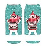 KPILP 1 Paar frauen 3D Cartoon Print Sneakersocken Lustige Weihnachten Baumwollsocken Crazy Cute Winter Warm Erstaunliche Neuheit Print Ankle Freizeitsocken,D