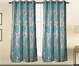 Threadmix Polyester Cotton Aqua Floral W...