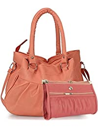 SALEBOX HOBO Leather Hand Bag With Long Belt & Top Handle Ideal For Women With Wallet/Pourch Combo Pack Of Two