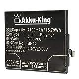 Akku-King batería sustituir Xiaomi BN40 - Li-Polymer 4100mAh - para Hongmi 4 Premium Edition, 4X, Redmi 4X Standard Edition, 4X Premium Edition