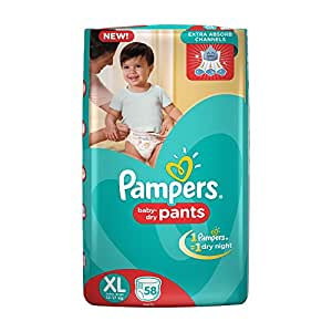 Pampers Extra Large Size Pants Diapers (58 Count)