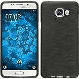 PhoneNatic Case für Samsung Galaxy A5 2017 Hülle Silikon silber brushed Cover Galaxy A5 2017 Tasche + 2 Schutzfolien