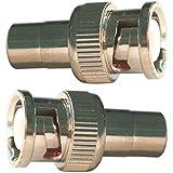 10Adaptateur connecteur BNC à BNC/RCA Jack adaptateur connecteur droit plaqué nickel