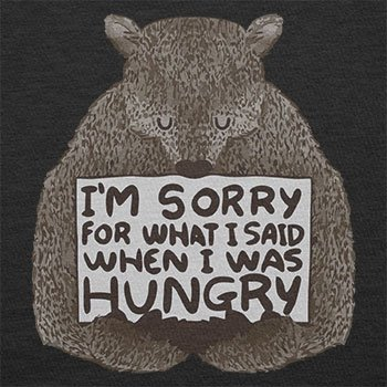 NERDO - I'm sorry for what I said when I was hungry - Herren T-Shirt Schwarz