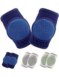 Rodilleras para gatear,rodillera para bebés gatear protector ajustable para niños pequeños, 3 pares