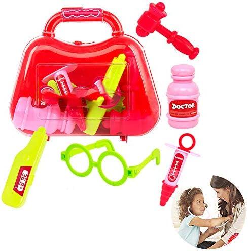 822d55b780c4fc 5 pcs Set enfants bébé docteur médical médical docteur jeu porter ensemble  de cas d éducation rôle jouer Kit jouet exquis simuler jouer-maison ...