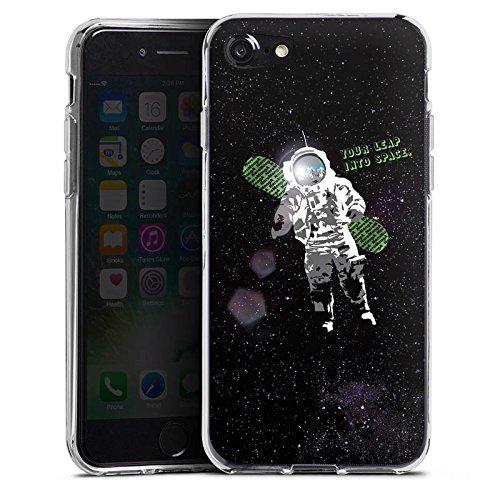 Apple iPhone X Silikon Hülle Case Schutzhülle Astronaut Weltall Fliegen Silikon Case transparent