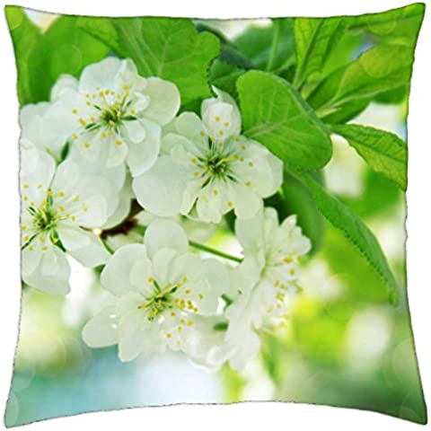 Flores del árbol de pera - Funda de cojín (18