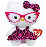 TY 40958 - Hello Kitty Baby-Fashionista, 15 cm, pinkfarbene Brille