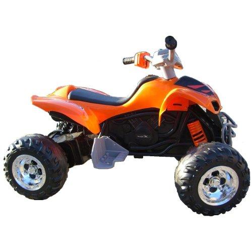 Imagen principal de crooza ® QUAD / ATV Coche con Motor y Batería de 12V coches para niños **2x MOTORES** naranja