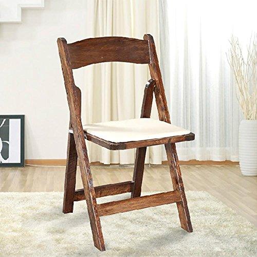 KSUNGB Klappbarer Stuhl aus Holz Massivholz Ergonomie Bürostuhl Essensstuhl Konferenzstuhl Salon...