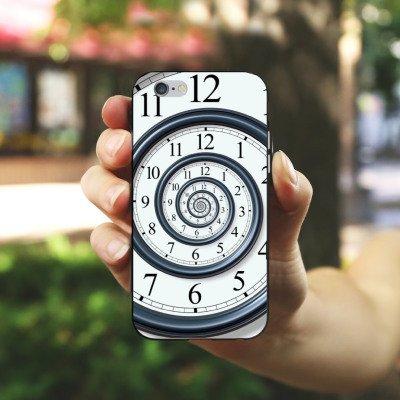 Apple iPhone 4 Housse Étui Silicone Coque Protection Temps Montre Vie Housse en silicone noir / blanc
