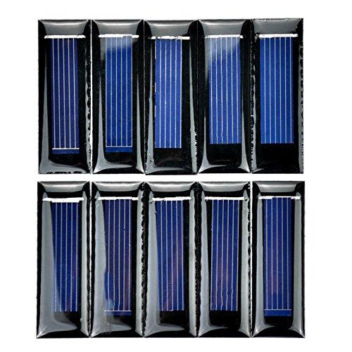 * SODIAL es una marca registrada. Solo el vendedor autorizado de SODIAL puede vender los productos de SODIAL. Nuestros productos va a mejorar su experiencia de la inspiracion sin igual. SODIAL(R) 10 piezas de Mini panel solar Nuevos paneles fotovolta...
