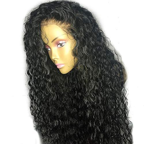 Curly-Spitze-Frontechthaar Perücken gerupft Mit brasilianischem Remy Haar-Spitze-vorderer Perücke, natürlichen Farben, 8inches, ()