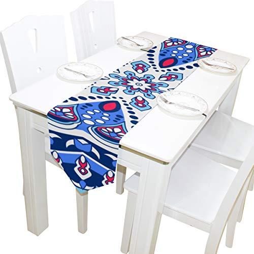 Yushg Abstrakte Kunst Dekorativer Stil Kommode Schal Stoffbezug Tischläufer Tischdecke Tischset Küche Esszimmer Wohnzimmer Zuhause Hochzeitsbankett Dekor Innen 13x90 Zoll