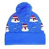 Yvelands Soldes Femmel'Hiver Dessin Animé Peluche Balle Bonnet Tricoté Chapeau Hat Cap(A,One Size)