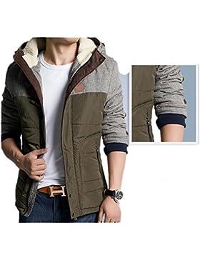 MHGAO Nueva pato blanco abajo del abrigo de invierno chaqueta de cuello de los hombres ocasionales , army green...