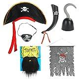 CoolChange Piraten Kostüm Set, 6 teilig