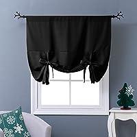 Tenda termica isolante oscurante grigio ponydance–Tie Up paralume, Tessuto, Black, W46