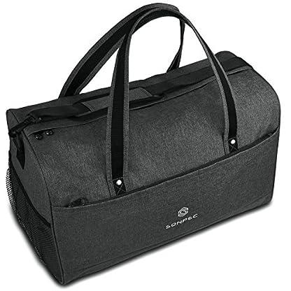 Sonpec-Sporttasche-fr-Mnner-Frauen-Praktische-Reisetasche-mit-45l-Fllvolumen-und-separatem-Schuhfach-Geeignet-als-Gymtasche-Travel-Bag-und-Fussballtasche-Handgepck-Damen-Herren