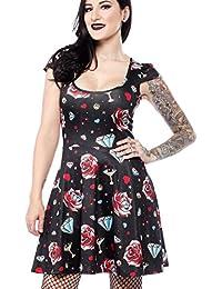 6c179740e64 Sourpuss Clothing Rockabilly Mini Skater Dress Diamonds are Forever